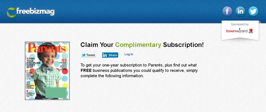 FREE one-year subscription to Parents Magazine at Freebizmag 1