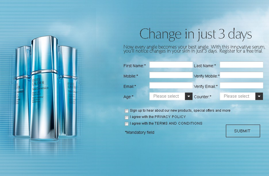 Free New Dimension Trial at Estee Lauder Malaysia 1