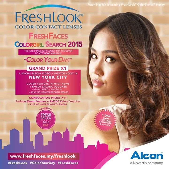 Free color make-over & TRIAL PAIR of FreshLook color contact ...