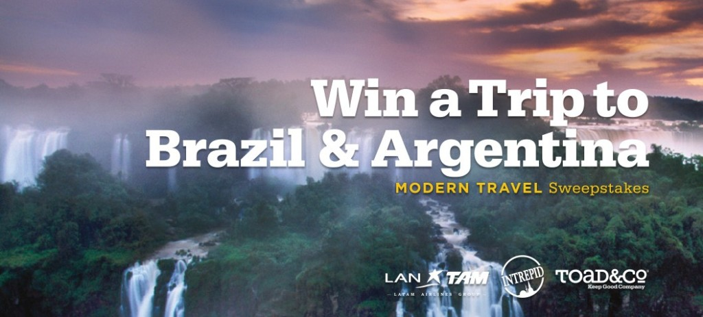 Toad&Co Modern Travel Sweepstakes Brazil and Argentina