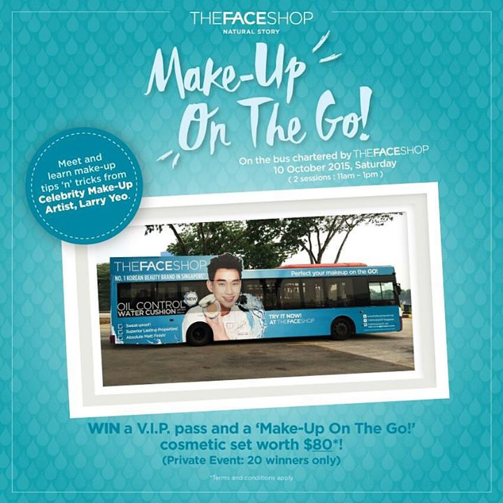 Win V.I.P. passes to our 'Make-Up On The Go!' private event at THEFACESHOP Singapore
