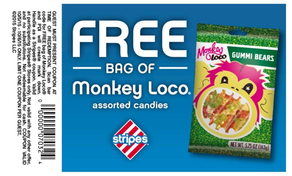 FREE Bag of Monkey Laco at Stripes
