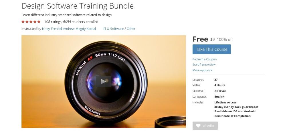 FREE Udemy Course on Design Software Training Bundle