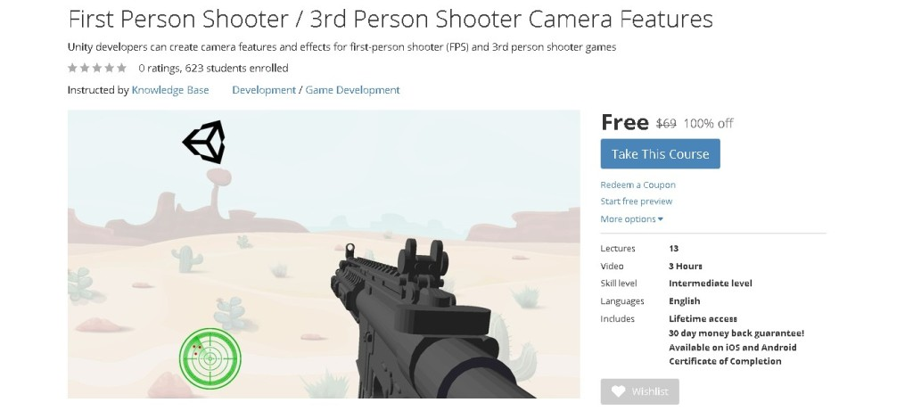 FREE Udemy Course on First Person Shooter  3rd Person Shooter Camera Features