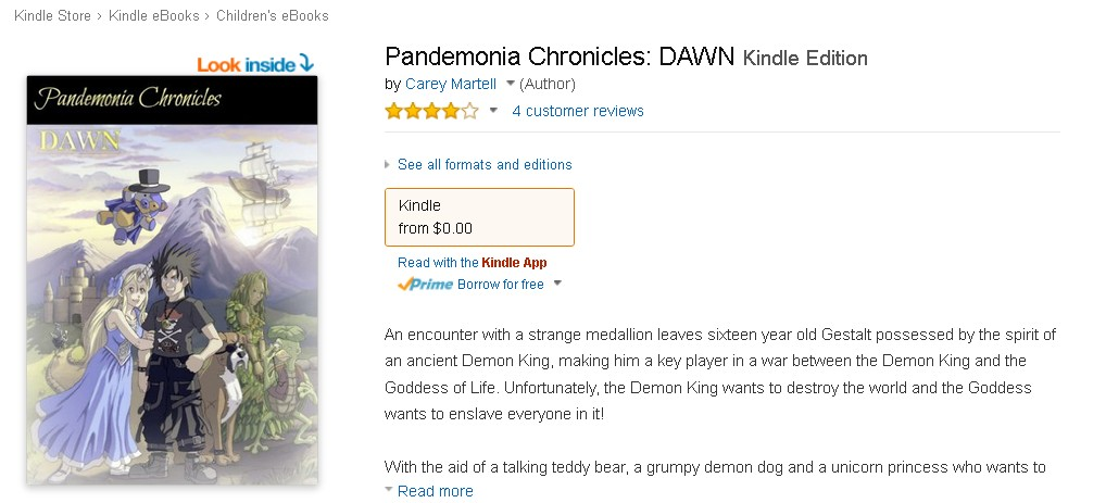 Free at Amazon Pandemonia Chronicles DAWN Kindle Edition