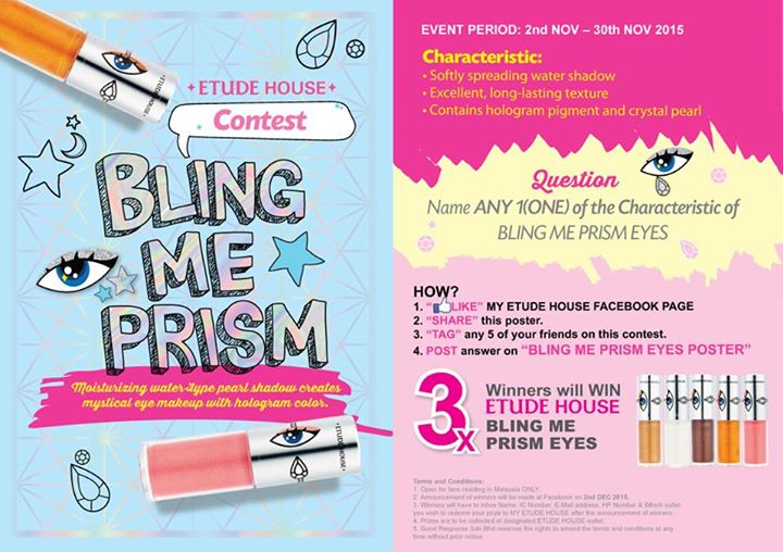 BLING ME PRISM EYES CONTEST #etudecontest