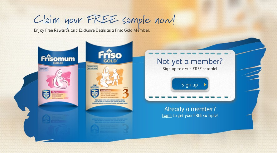 Claim your FREE sample now at Friso Gold Malaysia
