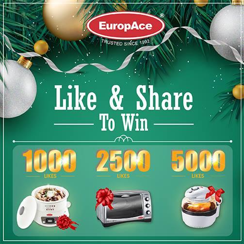 EuropAce Season of Giving Like & Share to win