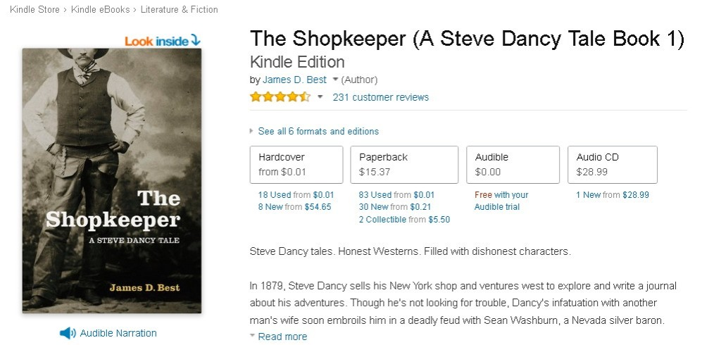 FREE The Shopkeeper (A Steve Dancy Tale Book 1) Kindle Edition