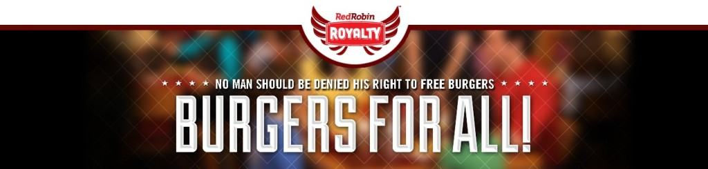FREE burger on your birthday at Red Robin