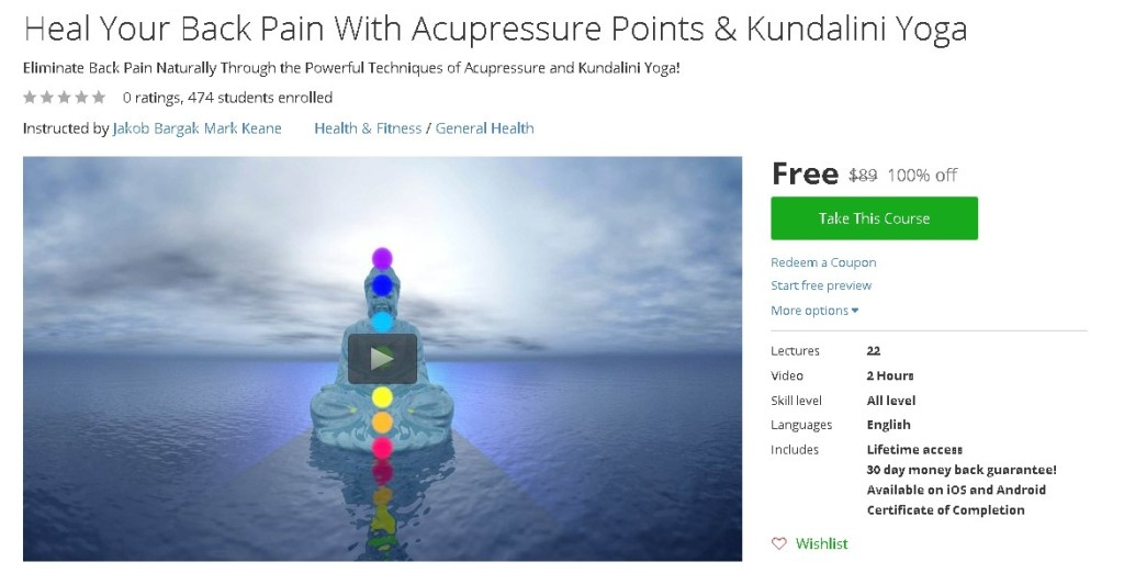 Free Udemy Course on Heal Your Back Pain With Acupressure Points & Kundalini Yoga