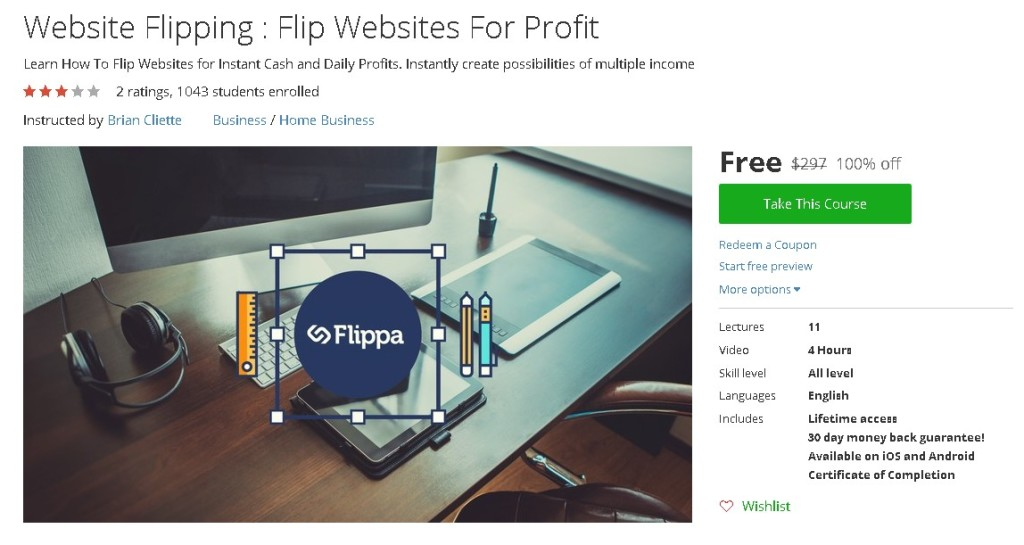 Free Udemy Course on Website Flipping  Flip Websites For Profit