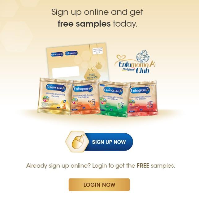 Get your free sampls at Enfagrow Malaysia