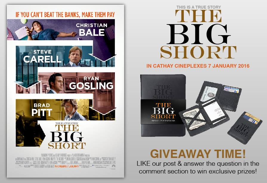 Win The Big Short exclusive prizes at Cathay Cineplexes Sdn Bhd