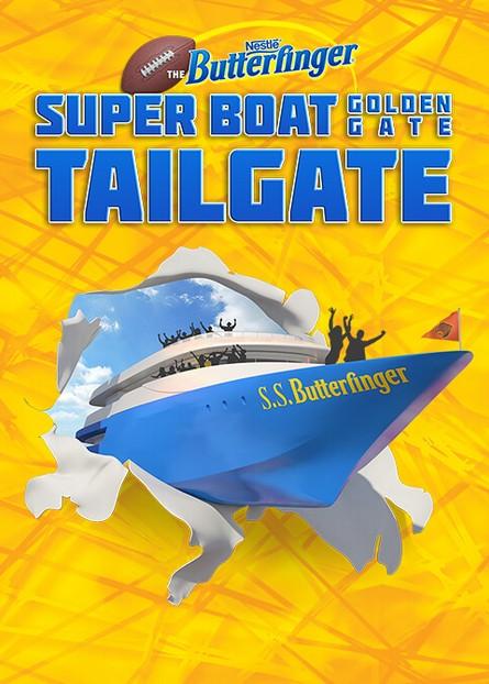Win a $50 gift card at Nestlé Butterfinger Super Boat Golden Gate Tailgate