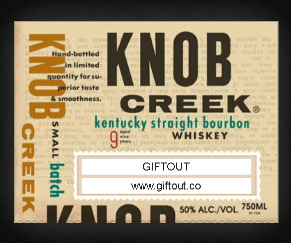 Build your own Knob Creek Label #giftout