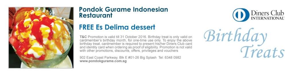 FREE Es Delima dessert at Pondok Gurame Indonesian Restaurant