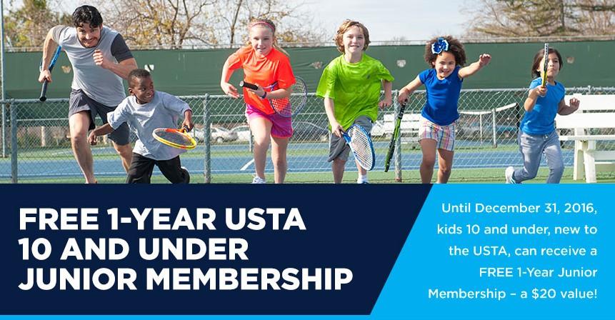Free 1-Year USTA 10 And Under Junior Membership