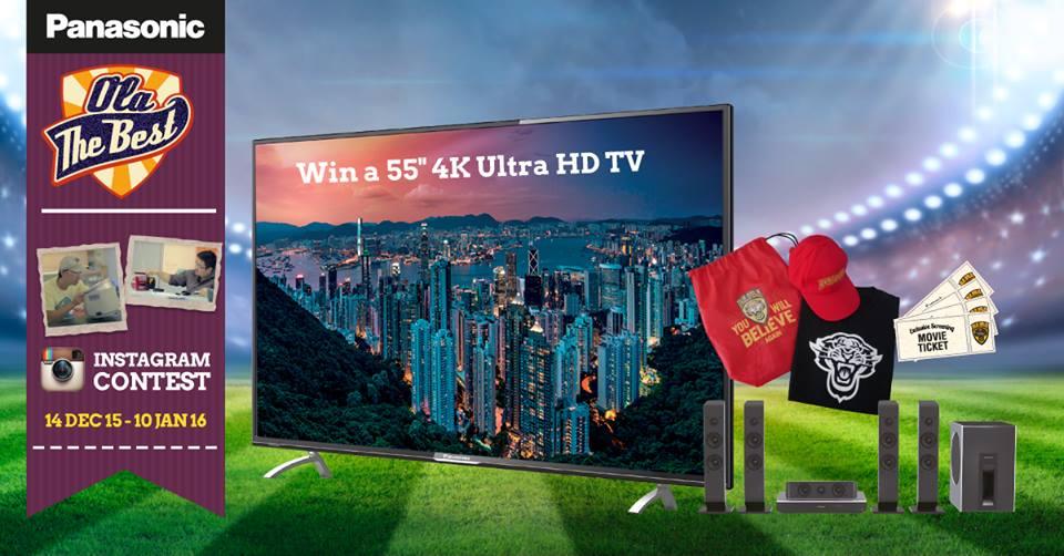 Win a 55 4K Ultra HD TV at Panasonic Malaysia