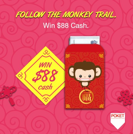 Win the Lucky Fortune of $88 at Pocket Singapore