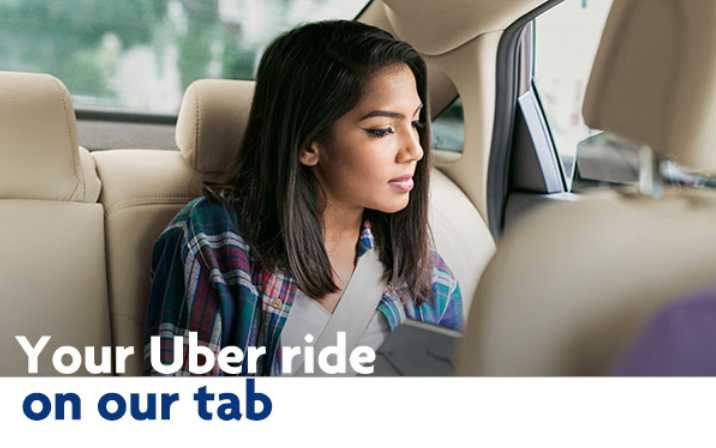 Enjoy your first Uber ride free with UOB Cards