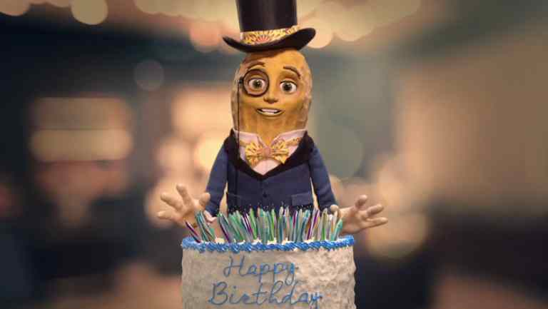 WHAT DOES MR. PEANUT WANT FOR HIS 100TH BIRTHDAY TO CELEBRATE WITH YOU.