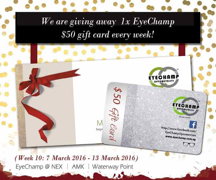 #Win 1x $50 gift card weekly at EyeChamp Singapore