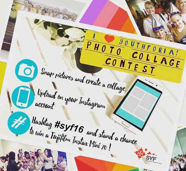 I love YOUTHforia! photo collage contest and stand to win a Fujifilm Instax Mini 70!