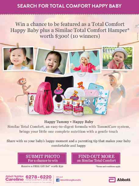 Win A Similac Total Comfort Hamper Worth $300