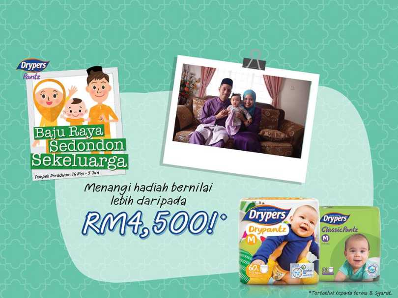 #Win the cash prize RM4,500 at Drypers Malaysia