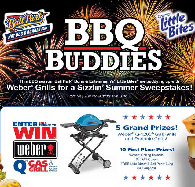 """Ball Park® and Little Bites® """"BBQ Buddies"""" Sweepstakes"""