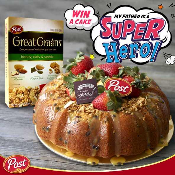 #Win Honey Oats & Seed Lemon Yogurt cake at POST Cereals Singapore
