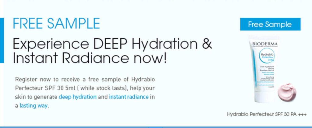 #Free NEW Bioderma Hydrabio Perfecteur SPF 30