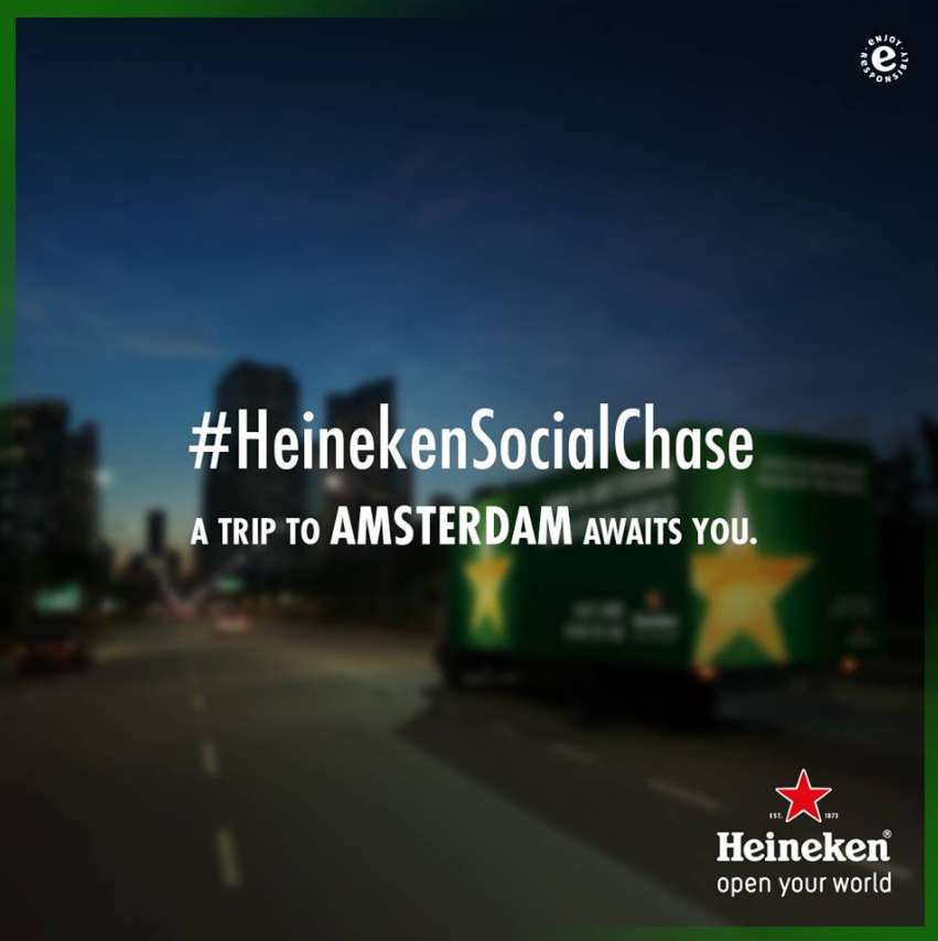 Get ready; the Heineken Social Chase is coming