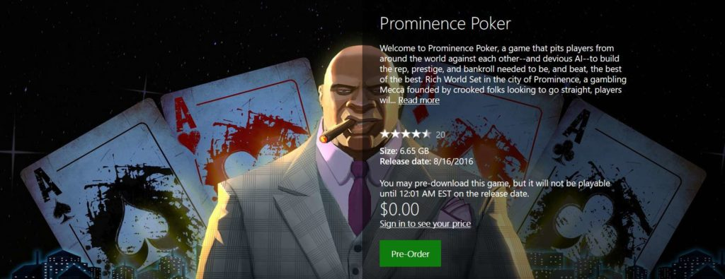 #FREE XBOX Game Prominence Poker