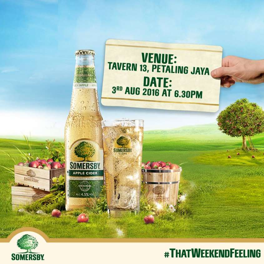 Get a FREE bottle of Somersby Apple Cider