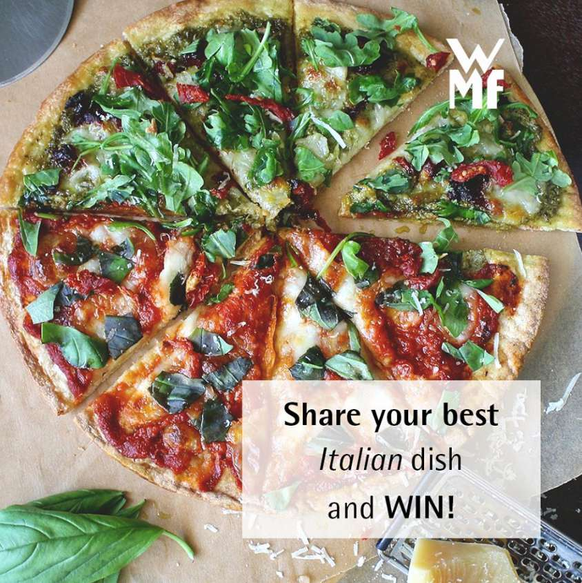 Submit your best home-cooked Italian dish on Instagram with the hashtag #wmfwin