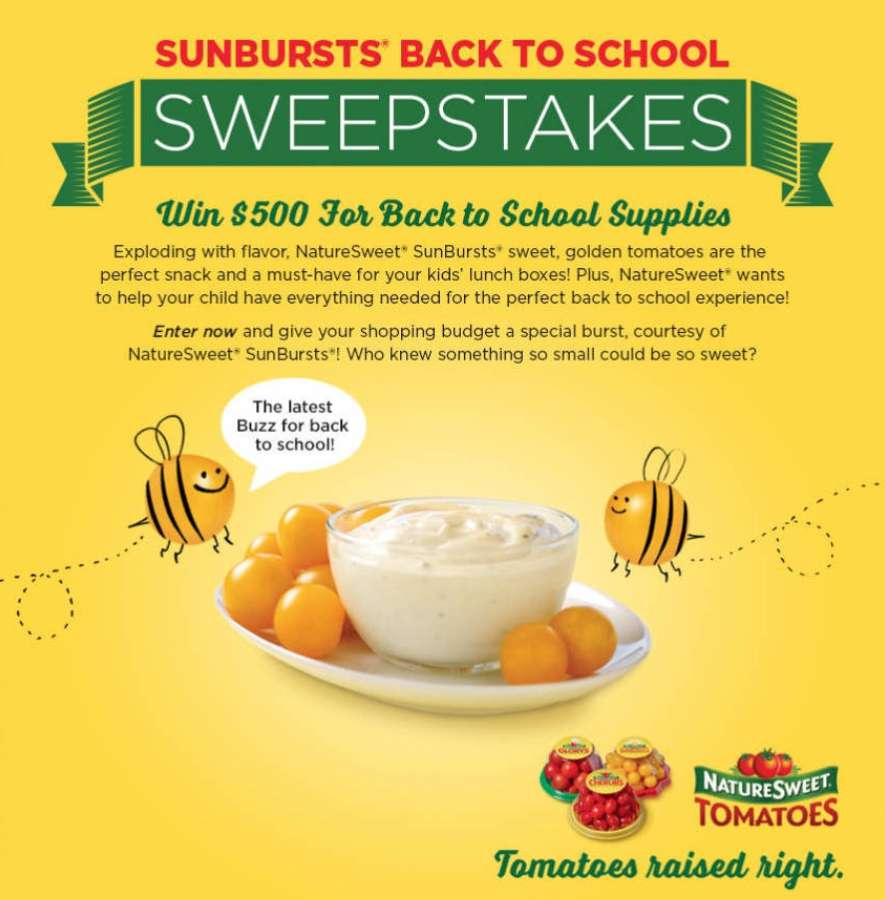 SunBursts® Back to School Sweepstakes