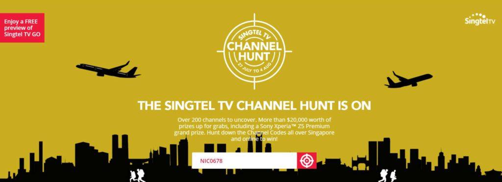 THE SINGTEL TV CHANNEL HUNT IS ON