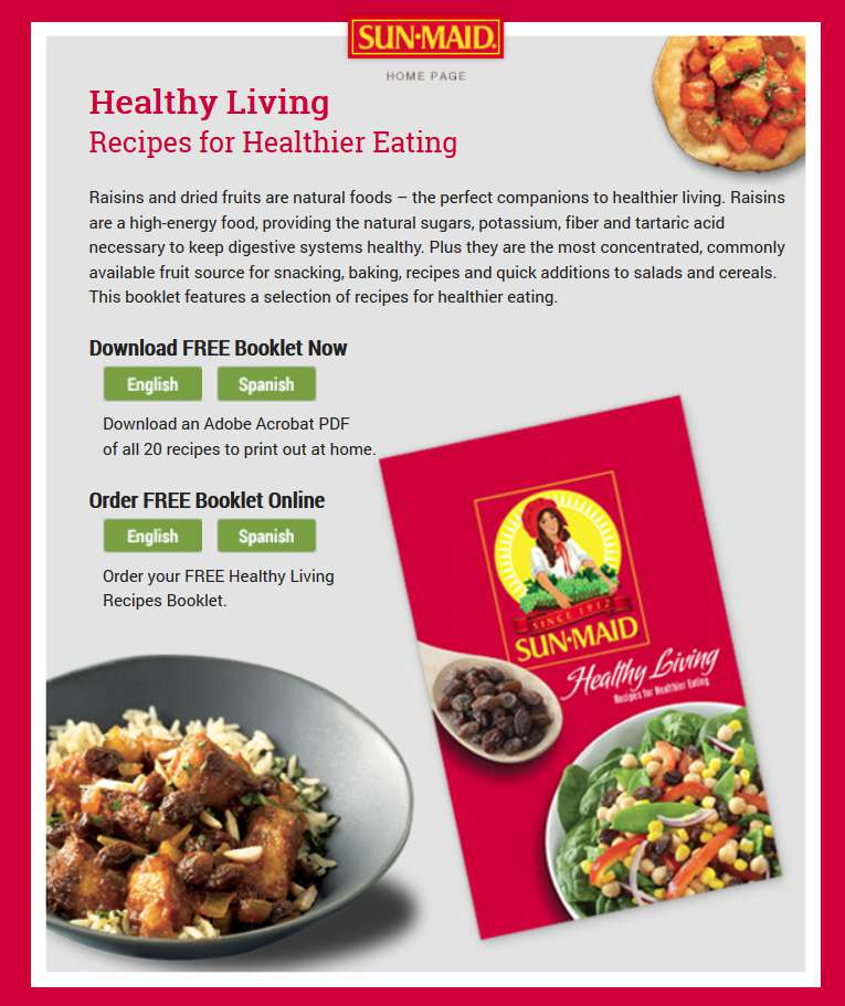Free healthy living recipes for healthier eating at sun maid worldwide forumfinder Image collections