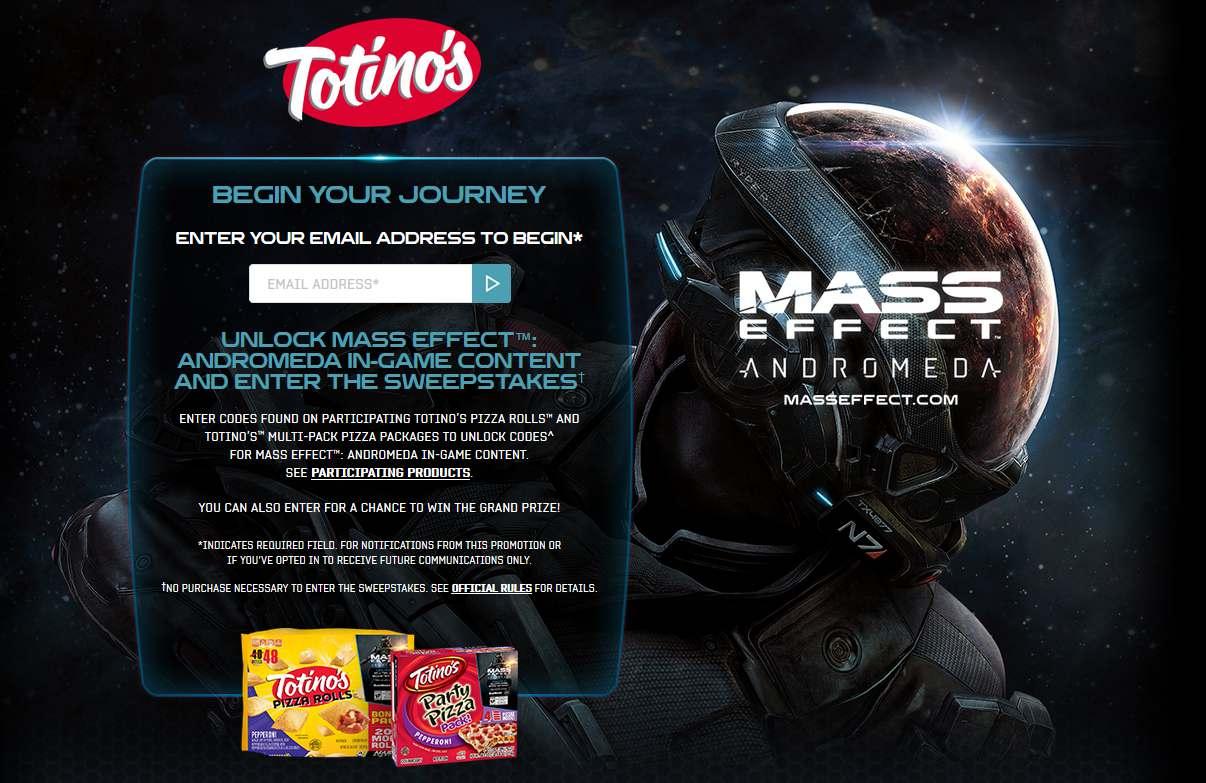 Totino's Mass Effect™: Andromeda Sweepstakes #USA - #GIFTOUT