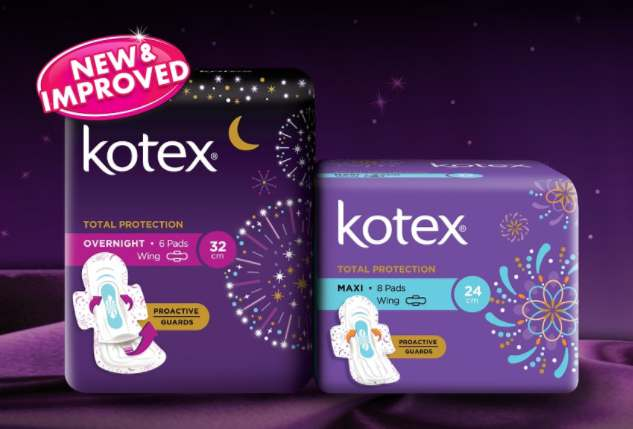 Free New Kotex Total Protection With Pro Active Guards Malaysia